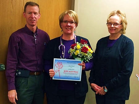 Employees like Diane (center) exemplify The Mercy Touch every day, and we love to celebrate them!