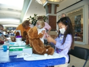 Children enjoyed fun hands-on learning activities at Mercy's Kids Health Fair held Saturday, Aug. 29 at Lindale Mall.The event was located near Wellville, the child's play area sponsored by Mercy.