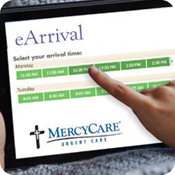 Urgent Care eArrival system