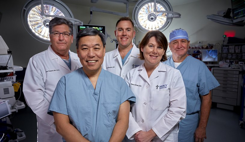 Mercy heart team in the Operating Room