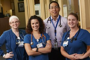 Melissa, Jen, Dr. Celis & Amber in Mercy's Intensive Care Center