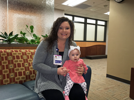 """I love being a labor nurse. In stressful situations, we don't have to say much. We just work in a rhythm. I'm proud to be a part of the Mercy organization."" --Kalista, RN, BSN, Birthplace"