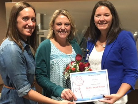 MercyCare employees recognize each other's above-and-beyond efforts each month with the ROSE award.