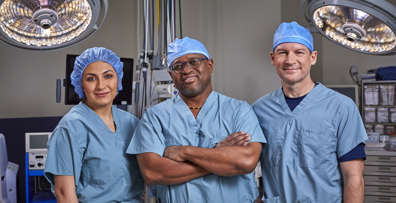 Drs. Ahad, Reid & Smith in the operating room