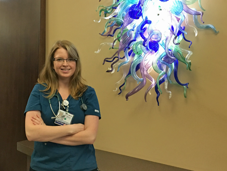 """I turned down another opportunity because the unit wasn't set up as well. At Mercy, there is updated equipment, supplies in the rooms, etc. It's really set up for good nursing care."" --Melissa, RN, Intensive Care Center"