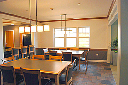 Family dining room just off kitchen