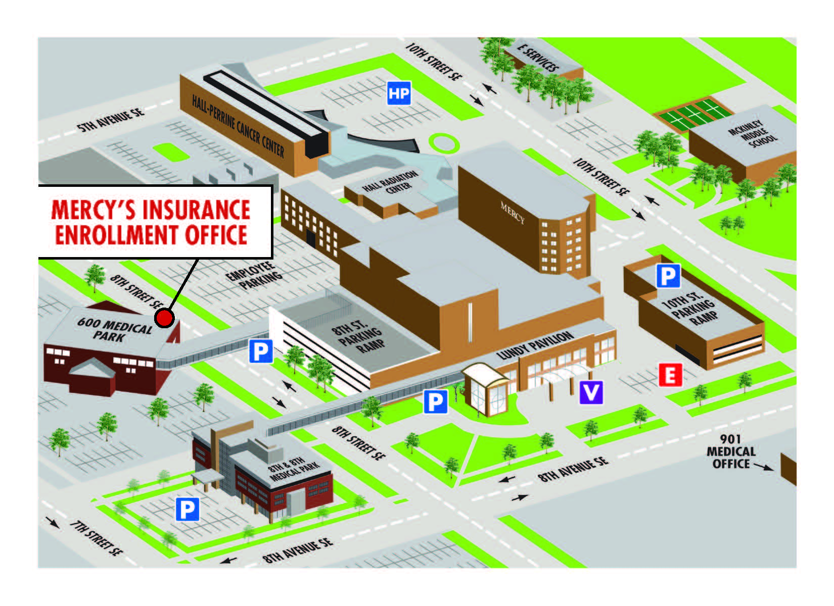 Mercy Insurance Office Map