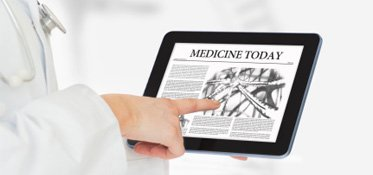 Medical news on a tablet